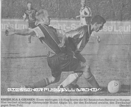 TSV 1848 Hungen II gegen SG Reiskirchen/Bersrod