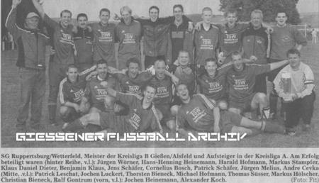 SG Ruppertsburg/Wetterfeld Aufstiegsmannschaft 2003/2004