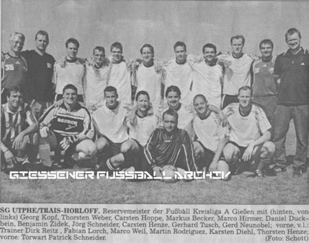 SG Utphe/Trais-Horloff/Inheiden 2 Reservemeister Kreisliga A Giessen 03/04