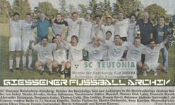 Hier klicken um Bild: Teutonia Watzenborn-Steinberg Bezirksligameister 2003/2004 zu vergr��ern